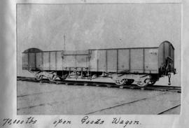CSAR ex IMR No 13000 open goods wagon later SAR type B-13. (Souvenir album of a visit by Rand Eng...