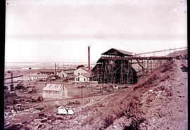 """Kimberley district. Building at mine shaft."""