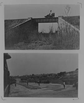 Page 01 (top). 1912. Trolley on Thor Spruit bridge with 30 foot deck. Page 16 (bottom). 1912. Ope...