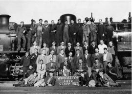 Worcester, 1943. Locomotive staff. (Donated by Mr G Anderson, Worcester)