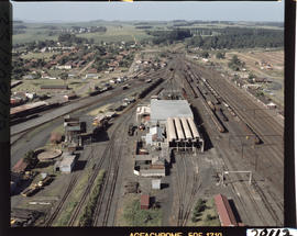 Aerial view of railway yard. [CF Gunter]