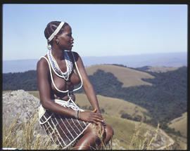 Melmoth district, 1961. Overlooking gorge at Nkandla.