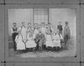 Cape Town, 1895. Staff of the Salt River trimming shop.
