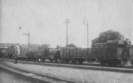 Bloemfontein, 1914. War train at station.