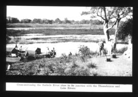 Botswana. Gauging the Botletle River.