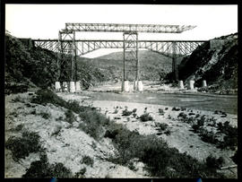 """Mossel Bay district, 1930. Construction of Gourits River bridge."""