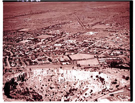 """Kimberley, 1936. Aerial view of Big Hole and city."""