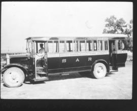 "SAR ""Docks"" bus with ""Adderley and Strand Streets"" on the side."