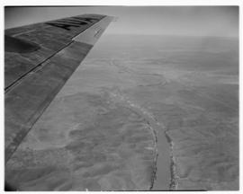 May 1946. Trip to Cape Town with SAA Douglas DC-4 ZS-AUA 'Tafelberg', view from aircraft over lar...