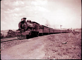 SAR Class 16C No 825 with Pretoria-Johannesburg passenger train.