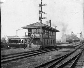 Durban. Signal cabin at railway station.