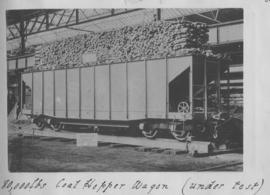 CSAR J2 high-sided coal hopper wagon under test later SAR A-2. (Souvenir album of a visit by Rand...