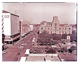 """Bloemfontein, 1967. Post office and city park."""