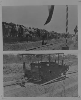 Page 13 (bottom). 1912. Motor trolley accident. Page 16 (top). 1912. Opening of the Selati - Tzan...