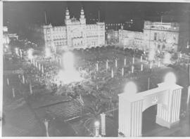 Pretoria, 29 March 1947. Church Square at night.