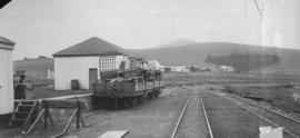Dohne, 1895. Goods wagon in station. (EH Short)