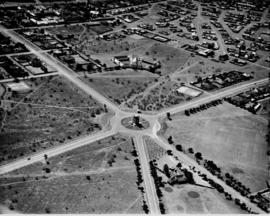 Kimberley, 1935. Aerial view of Honoured Dead memorial.