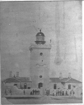 Port Elizabeth district, 1948. Bird Island lighthouse.