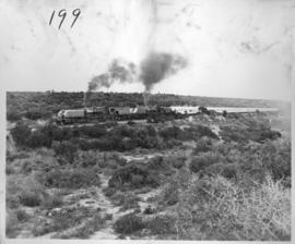 Alicedale district, 28 February 1947. Royal Train being drawn by two locomotives near Alicedale.