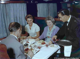 Dinner on the Trans Karoo Express.