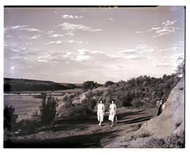 """Aliwal North, 1952. Weir in the Orange River."""