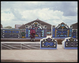 Traditional Ndebele homes.