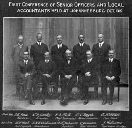 Johannesburg, October 1919. First conference of senior officers and local accountants.