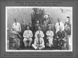 January 1933. OFS System Manager and senior officers.