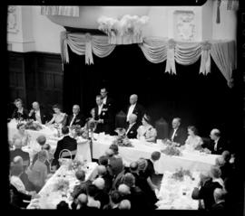Cape Town, 17 February 1947. King George VI speaking at state banquet in city hall.