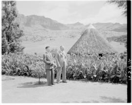 Royal Natal National Park, Drakensberg, 14 to 16 March 1947. Minister of Transport JC Sturrock an...
