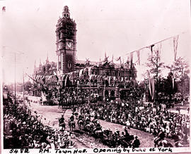 Pietermaritzburg, 1902. Opening of Town Hall by the Duke of York.