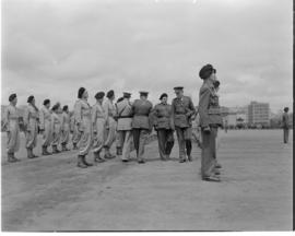 Johannesburg, September 1940. Review of Tank Corps by Colonel Watermeyer.