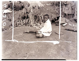 Transkei, 1940. Young boy sitting.