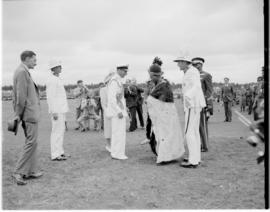 Swaziland, 25 March 1947. King George VI meeting traditional leader.