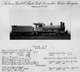 Technical details of CGR 6th Class later SAR Class 6H from Neilson Reid & Co, Hyde Park Locom...