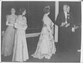 Cape Town, 24 April 1947. Royal family arriving for state banquet at city hall with mayor in attt...