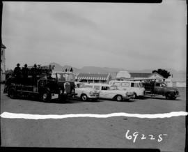 Worcester, 1960. Fire brigade and ambulances.
