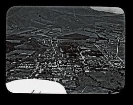 Aerial view of small town - Stellenbosch?