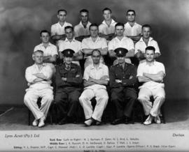 Durban, 1943. Third Battalion Railways and Harbours Brigade, winners Durban Senior War Cricket Le...