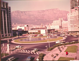 Cape Town, 1969. View of city towards Table Mountain.