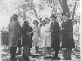 Cape Town, 23 April 1947. Princess Elizabeth and Princess Margaret with Girl Guides at Rosebank.