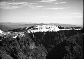 De Doorns, 1936. Aerial view of Hex River mountains after snowfall.