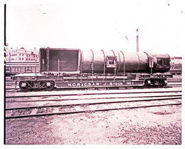 NGR and CSAR joint stock bogie well wagon No 1, carrying Mallet boiler.