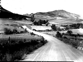 Caledon district, 1954. Winding road.
