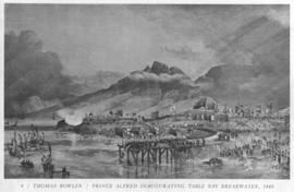 Cape Town, 17 September 1860. Tipping the first truck of stone for the breakwater of Cape town Ha...