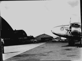 Johannesburg, circa 1941. SAA Lockheed Lodestars parked outside hangars at Rand Airport. Probably...