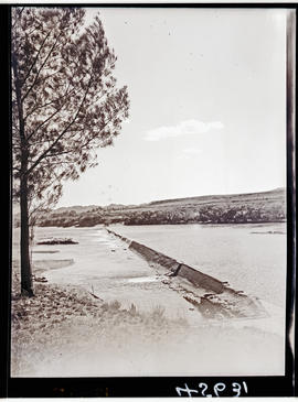 """Aliwal North, 1938. Low-level weir in the Orange River."""
