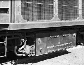Pretoria, circa 1950. SAR Class 20 converted. Condenstate tank and water feed pump under tender f...