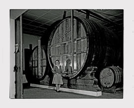 Paarl, 1945. KWV distillery. 'Big Bill wine vat.