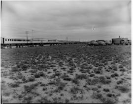 Graaff-Reinet district, 25 February 1947. Royal Train at Koningsrus staging point before Graaff-R...